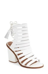 Steve Madden Women's 'Pipa' Cut Out Sandal White Leather