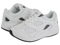 Drew Shoe Flare White White Perf Leather White Mesh Women's Walking Shoes