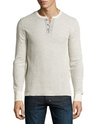 Ag Adriano Goldschmied Reverse Thermal Henley Vintage White