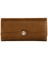 Giani Bernini Sandalwood Leather Receipt Manager Wallet