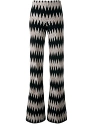 Missoni Zig Zag Pattern Straight Trousers Black