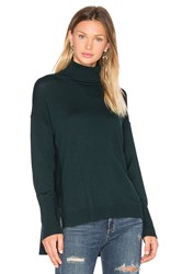 525 America Side Slit Sweater Green