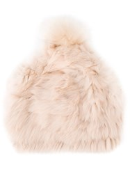 Yves Salomon Pompom Beanie Pink And Purple