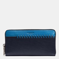 Coach Rip And Repair Accordion Wallet In Sport Calf Leather Midnight Denim