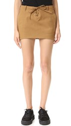 One Teaspoon Faux Suede Skirt Drifter