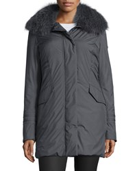 Post Card Menkar Fur Trim Coat Women's