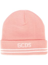 Gcds Logo Beanie Hat Pink And Purple
