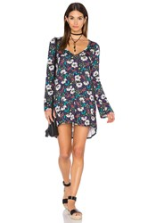 Michael Lauren Kyle Long Sleeve Dress Navy