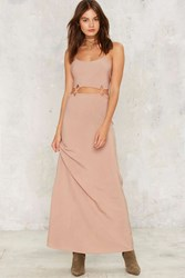 Cross Enemy Lines Maxi Dress Nude Beige