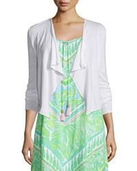 Lilly Pulitzer Colony Draped Cardigan Resort White Women's