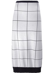 Iceberg Checked Skirt White