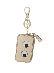 Anya Hindmarch Eyes Metallic Leather Coin Purse Gold