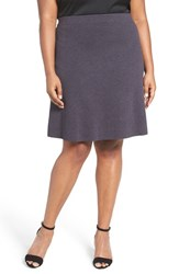 Nic Zoe Plus Size Women's 'Flirt' Textured Knit Skirt Japanese Violet