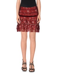 Le Ragazze Di St. Barth Skirts Mini Skirts Women Maroon