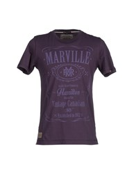 Marville Topwear T Shirts Men Dark Purple