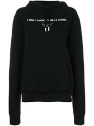 Off White 'I Only Smoke When I Drink' Hoodie Black