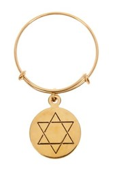 Alex And Ani 14K Gold Filled Star Of David Charm Wire Ring Metallic