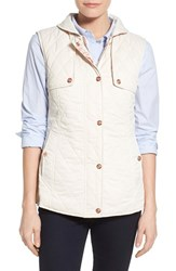 Nanette Lepore Women's Reversible Quilted Vest Oyster