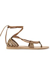 Valia Gabriel Crosby Nubuck Sandals Tan