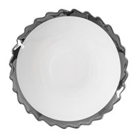Diesel Living With Seletti Machine Collection Dessert Plate Design 2 Silver