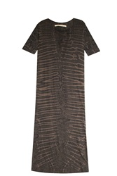 Raquel Allegra Tie Dye Maxi Dress Grey