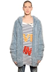 Faith Connexion Oversized Hooded Plush Knit Cardigan