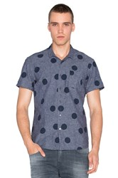Scotch And Soda Short Sleeve Allover Print Navy