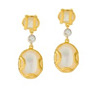 Alexandra Alberta Madison Pearl Earring White Gold Nude