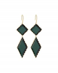 Lana 14K Gold Midnight Drop Earrings Green