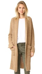 Otto D'ame Shawl Collar Long Cardigan Cammello