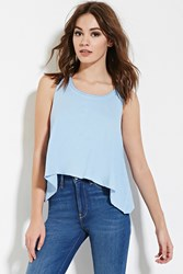 Forever 21 Trapeze Tank Top Light Blue