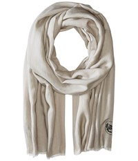 The Kooples Cotton Crest Scarf Beige