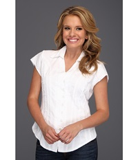 Scully Cantina Celia Cap Sleeve Top White Women's Blouse