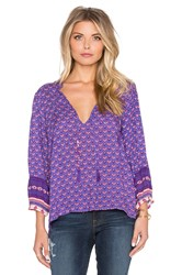 Spell And The Gypsy Collective Sunset Road Blouse Purple