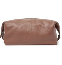 Polo Ralph Lauren Full Grain Leather Wash Bag Tan