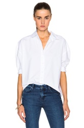 Mih Jeans Poets Top In White