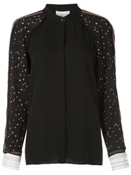 3.1 Phillip Lim Contrast Sleeve Shirt Black