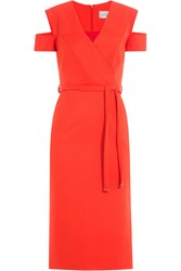 Preen By Thornton Bregazzi Dress With Cut Out Shoulders Red