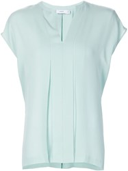 Vince Slot Collar Blouse Green
