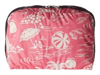 Lesportsac Luggage Xl Essential Cosmetic Hawaiian Getaway Pink Cosmetic Case