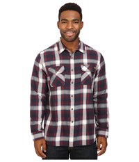 Rip Curl Zarco Long Sleeve Flannel Navy Men's Clothing