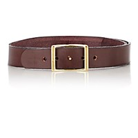 C.S. Simko Women's Leather Belt Burgundy