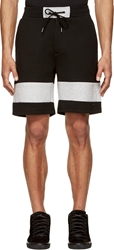 Marc By Marc Jacobs Black And Grey Jersey Slogan Shorts