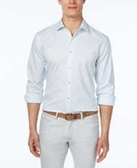 Alfani Big And Tall Men's Dobby Long Sleeve Shirt Only At Macy's Cool Mist