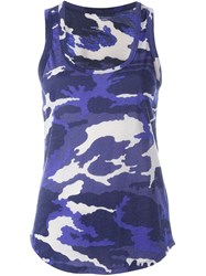 Majestic Filatures Camouflage Print Tank Top Blue