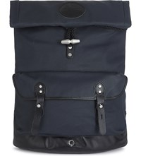 Stighlorgan Reilly Laquered Cotton Canvas Backpack Navy