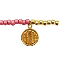 Lucci Charmers Peace Charm Bracelet Pearl Pink