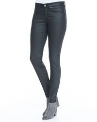 Eileen Fisher Waxed Stretch Skinny Jeans Black