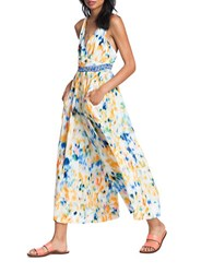 Plenty By Tracy Reese Flared Painterly Jumpsuit Rainbow