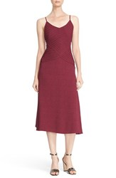 Tracy Reese Women's Pintuck Slipdress Cerise